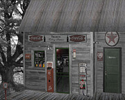 Old Cabins Digital Art - Down Memory Lane by Barry Westmoreland