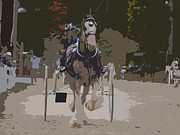 Horse And Buggy Digital Art Prints - Down Memory Lane Print by Val Brackenridge