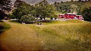 Country Dirt Roads Photo Prints - Down on the farm Print by Bill  Wakeley