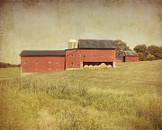 Farming Barns Prints - Down on the Farm Print by Kim Hojnacki