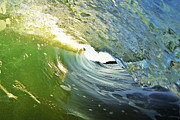 Santa Cruz Surfing Metal Prints - Down the Barrel Metal Print by Paul Topp