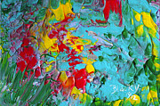 Abstract Expressionist Prints - Down The Garden Path Print by Donna Blackhall