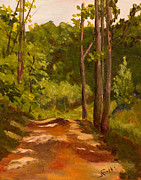 Janet Felts Art - Down the Road by Janet Felts