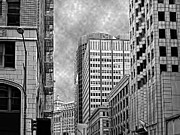 Metropolis Digital Art - Down Town by Camille Lopez