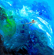 Under The Ocean  Paintings - Down under by Lisa Darlington