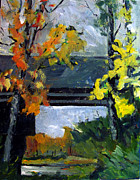 Plein Air Art - DOWN UNDER the COTTONWOODS and SYCAMORES by Charlie Spear