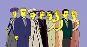 Donna Huntriss Metal Prints - Downton Abbey - Cast Eight Metal Print by Donna Huntriss