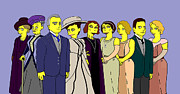Donna Huntriss Metal Prints - Downton Abbey - Cast Nine Metal Print by Donna Huntriss