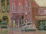 Business Drawings - Downtown Acworth by Donald Maier