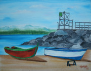 Downtown Aguadilla Print by Gloria E Barreto-Rodriguez