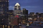 Hyatt Hotel Prints - Downtown Austin 3 Print by Kristina Deane