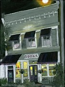 Purple Awnings Prints - Downtown Books 11 Print by Susan Richardson