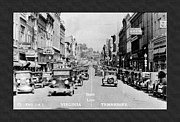 Virginia Postcards Posters - Downtown Bristol Va TN 1931 Poster by Denise Beverly