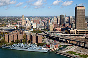 Buffalo Naval Park Posters - Downtown Buffalo Skyline Poster by Bill Cobb