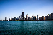 Michigan Art - Downtown City Buildings in the Chicago Skyline by Paul Velgos