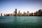 Chicago Prints - Downtown City Buildings Skyline in Chicago Print by Paul Velgos