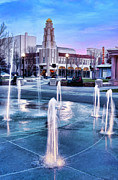 Chico Framed Prints - Downtown City Plaza Chico California Framed Print by Kathleen Gauthier