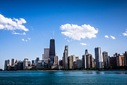 Gold Coast Posters - Downtown City Skyline of Chicago Poster by Paul Velgos