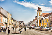 Editorial Framed Prints - Downtown Cluj Napoca Framed Print by Gabriela Insuratelu