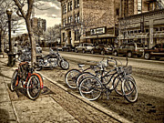 Hdr Look Photo Prints - Downtown Coeur dAlene Idaho Print by Scarlett Images Photography
