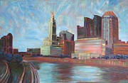 Robie Benve Prints - Downtown Columbus Print by Robie Benve