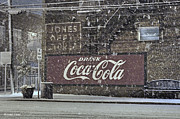 Coca-cola Mural Prints - Downtown Covered in Snow Print by Benanne Stiens