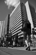 Crosswalk Photos - Downtown Crossing by Arindam Shivaani