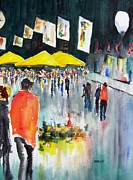 Bazaar Paintings - Downtown Crossing Street Fair by Carlin Blahnik