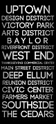 Metroplex Posters - Downtown Dallas Poster by Peter Hull