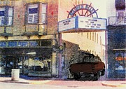 Printmaking Prints - Downtown Print by David Honaker