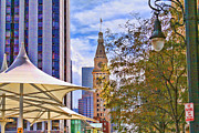 Umbrellas Digital Art - Downtown Denver by Audreen Gieger-Hawkins