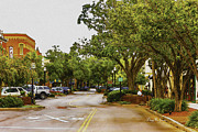 Atlantic Beaches Digital Art Prints - Downtown Fernandina Beach Print by Barry Jones