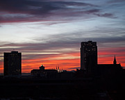 Sky Photos - Downtown Glow by Rona Black