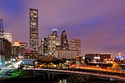 Downtown Franklin Prints - Downtown Houston Texas Skyline Beating Heart of a Bustling City Print by Silvio Ligutti