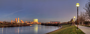 White River Prints - Downtown Indianapolis from White River Print by Twenty Two North Photography