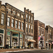 Lamp Posts Prints - Downtown Jonesborough Print by Heather Applegate