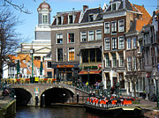 Downtown Leiden Holland Netherlands Print by Robert Ford