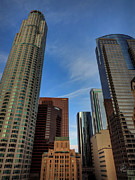 Downtown Los Angeles 001 Print by Lance Vaughn