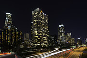 Downtown Los Angeles 2 Print by Robert Alvarez