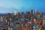 Downtown Los Angeles Print by Kelley King