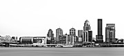 Galt Framed Prints - Downtown Louisville Skyline Framed Print by Ryan Smith