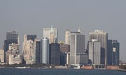 John Telfer Photography Photos - Downtown Manhattan shot from the Staten Island Ferry by John Telfer