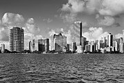 Miami Pyrography Prints - Downtown Miami Print by Eyzen Medina