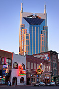 Nashville Tennessee Metal Prints - Downtown Nashville Metal Print by Brian Jannsen