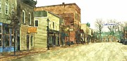Store Fronts Prints - Downtown Newago Michigan Print by Rosemarie E Seppala