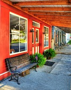 Small Towns Prints - Downtown Perryville Print by Mel Steinhauer