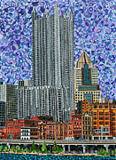 Gateway Paintings - Downtown Pittsburgh - View from Smithfield Street Bridge by Micah Mullen