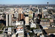 Tower Of The Americas Photos - Downtown San Antonio Texas by Bill Cobb