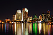 Tall Digital Art Originals - Downtown San Diego by Gandz Photography