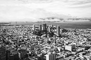 Aerial Framed Prints - Downtown San Francisco Framed Print by Erik Brede